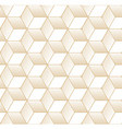 Retro Pattern with Golden Cubes vector image vector image