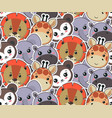 seamless pattern with cute african animal vector image vector image