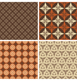 set four seamless square patterns vector image vector image
