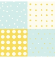 Set of 4 hand drawn cute seamless patterns vector image