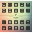Set of jewelry icons vector image vector image
