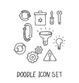Set of Universal Doodle Icons Variety of Topics