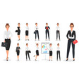 set of young pretty business woman character vector image vector image