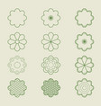 simple flower patterns vector image vector image