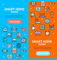 smart home signs banner vecrtical set vector image vector image
