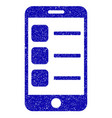 smartphone list icon grunge watermark vector image vector image