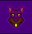 sphynx cat mascot logo design vector image vector image
