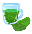spinach juice fresh icon cartoon style vector image