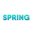 spring green blue letter with leaves and dark vector image