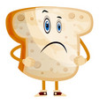 standing bread on white background vector image