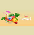 summer drinks banner template tropical vector image