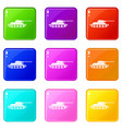 tank icons 9 set vector image vector image