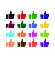 thumbs up like icons color set for social network vector image
