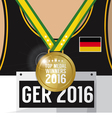 Top Medal Winner 2016 Sport Competition Concept vector image vector image