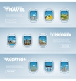 Travel the world Monument concept vector image