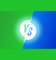 vs letters versus banner competitive concept vector image vector image