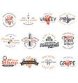 wine logos labels set winery shop vector image