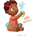Zodiac sign Aquarius African American Cute Girl vector image