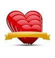 Heart set vector image