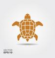 turtle flat icon vector image