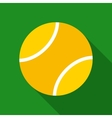 Tennis Ball in Flat Style vector image