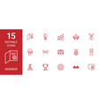 15 winner icons vector image vector image