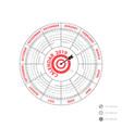 2019 calendar templatecircle calendar vector image vector image