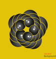 Abstract background 3D fractalon the yellow vector image