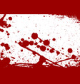 abstract paint splatter red color isolated vector image vector image