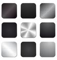Apps metal-carbon icon set vector image vector image