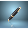 Black ballpoint pen icon vector image