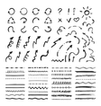 Black Marker strokes set vector image