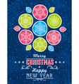 Blue grunge Christmas card with snowflakes vector image