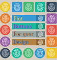 Brain icon sign Set of twenty colored flat round vector image