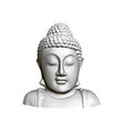 buddha statue front view 3d polygonal statue of vector image