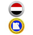 button as a symbol EGYPT vector image vector image
