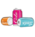 Cans vector image vector image