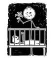 cartoon dead tired father entertaining bain vector image vector image