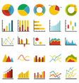 chart diagram icon set isolated flat style vector image vector image
