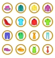 Clothes set cartoon style vector image vector image