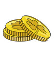 coins with clover vector image vector image