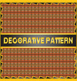 colorful decorative geometric pattern background vector image vector image