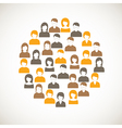Colorful people icon vector image