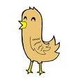 comic cartoon happy bird vector image vector image