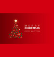 creative minimal background with christmas tree vector image vector image