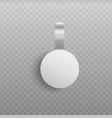 custom advertising wobbler mockup in realistic vector image vector image