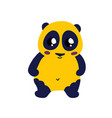 cute cartoon panda icon vector image vector image
