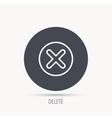 Delete icon Decline or Remove sign