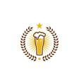 drink beer logo icon design vector image