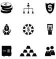 economy icon set vector image vector image